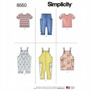 8660 Simplicity Pattern: Dungarees and Knit Tops